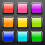 Fondo per le icone di app - insieme di vetro Fotografia Stock