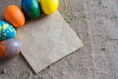 Fondo per le lettere su Pasqua Immagini Stock
