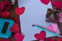 Fondo per le note di amore Fotografia Stock