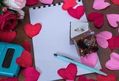 Fondo per le note di amore Fotografia Stock Libera da Diritti