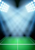 Fondo per lo stadio di tennis di notte dei manifesti in Fotografia Stock Libera da Diritti