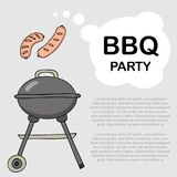 Fondo per un partito del barbecue Immagini Stock
