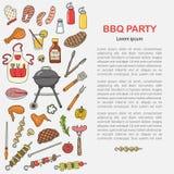 Fondo per un partito del barbecue Immagine Stock Libera da Diritti