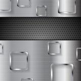 Fondo perforado del metal abstracto con los cuadrados libre illustration