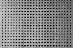 Fondo perforato grigio del rivestimento del metallo Immagine Stock Libera da Diritti