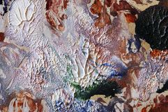 Fondo petróleo-pintado extracto Imagenes de archivo