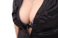 Fondo piacevole del seno Fotografia Stock