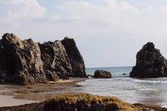 Fondo piacevole della spiaggia di tempo Immagine Stock