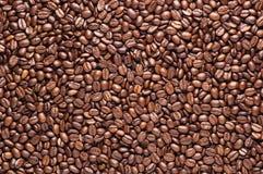 Fondo piano arrostito dei chicchi di caffè Fotografia Stock