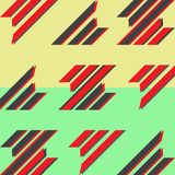 Fondo piano astratto di progettazione Progettazione dinamica dell'insegna di stile Manifesto geometrico del modello Modello della illustrazione vettoriale