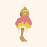 Fondo piano degli elementi dell'icona del mostro bizzarro, eps10 Fotografia Stock