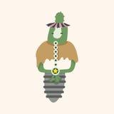 Fondo piano degli elementi dell'icona del mostro bizzarro, eps10 Immagini Stock