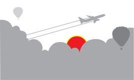 Fondo piano del cielo di turismo di viaggio Immagine Stock Libera da Diritti