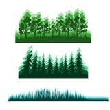 Fondo piano della foresta Fotografia Stock