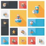 Fondo piano di ui di app di Natale felice, eps10 Fotografia Stock Libera da Diritti