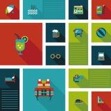 Fondo piano di viaggio di ui, eps10 Immagini Stock Libere da Diritti