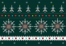 Fondo piega di Natale del modello Fotografie Stock