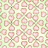 Fondo piegato della carta di lerciume indossato cuore di artistico di scarabocchio di divertimento Fotografie Stock