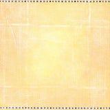 Fondo piegato indossato arancio a quadretti semplice della carta di lerciume Fotografia Stock Libera da Diritti