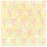 Fondo piegato indossato della carta di lerciume timbrato cuore di artistico Fotografie Stock