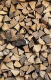 Fondo - pila de madera del fuego Fotografía de archivo