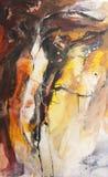 Fondo pintado abstracto dramático Foto de archivo