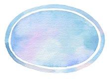 Fondo pintado acuarela de la elipse Fotografía de archivo