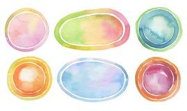 Fondo pintado acuarela del círculo Texture el papel Imagen de archivo