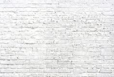 Fondo pintado blanco de la pared de ladrillo foto de archivo libre de regalías