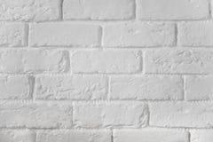 Fondo pintado blanco de la textura de la pared de ladrillo foto de archivo libre de regalías