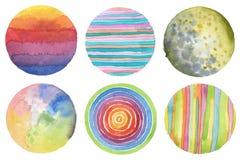 Fondo pintado círculo abstracto de la acuarela Texture el papel Es Fotografía de archivo libre de regalías