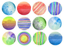 Fondo pintado círculo abstracto de la acuarela Texture el papel Es Imagen de archivo libre de regalías