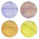 Fondo pintado círculo de la acuarela Texture el papel Foto de archivo libre de regalías