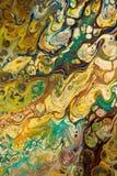 Fondo pintado creativo abstracto con las pinturas acrílicas Imagenes de archivo