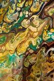Fondo pintado creativo abstracto con las pinturas acrílicas Foto de archivo libre de regalías