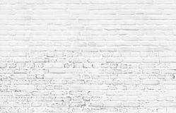 Fondo pintado hermoso blanco de la pared de ladrillo fotografía de archivo libre de regalías