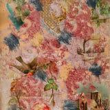 Fondo pintado libro de recuerdos del collage Fotos de archivo