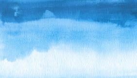 Fondo pintado mancha blanca /negra abstracta de la acuarela Texture el papel Fotografía de archivo libre de regalías
