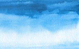 Fondo pintado mancha blanca /negra abstracta de la acuarela Texture el papel Imagen de archivo