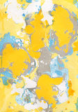 Fondo pintado a mano abstracto amarillo, azul, gris Fotografía de archivo