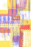 Fondo pintado a mano abstracto con las capas de la pintura, texturas, efecto acanalado stock de ilustración