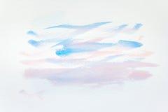 Fondo pintado a mano abstracto de la acuarela en el papel textura para las ilustraciones creativas del papel pintado o del diseño Imagenes de archivo