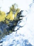 Fondo pintado a mano abstracto de mármol azul fotos de archivo
