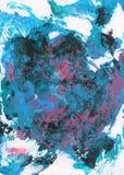 Fondo pintado a mano abstracto del azul, rosado y gris Imagenes de archivo