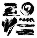 Fondo pintado a mano abstracto sucio negro Diseño del cepillo ilustración del vector