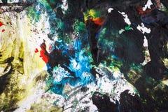 Fondo pintado a mano colorido abstracto Fotografía de archivo libre de regalías