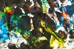 Fondo pintado a mano colorido abstracto Fotos de archivo