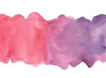 Fondo pintado a mano de la acuarela Foto de archivo libre de regalías