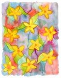 Fondo pintado a mano de la acuarela abstracta. stock de ilustración