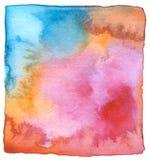 Fondo pintado a mano de la acuarela abstracta Fotografía de archivo libre de regalías